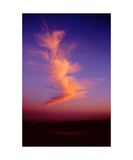 Sunset cloud above Bolinas Lagoon Photographic Print by Ronald A Dahlquist