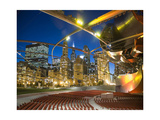 Millennium Park  Outdoor Theater At Night Photographic Print by Patrick Warneka