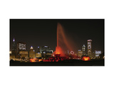 Chicago Whitesox Skyline With Buckingham Fountain Photographic Print by Patrick Warneka