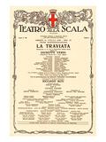 La Scala: Verdi Opera Traviata Affiches