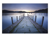 Derwent Water Jetty Sunset Print