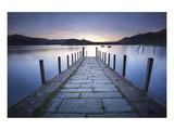 Derwent Water Jetty Sunset Print