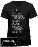 Metallica- Album Tags (front/back slim fit) Koszulka