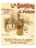 Puccini Opera La Boheme Paris Print