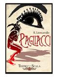 Leoncavallo Opera Pagliacci Poster