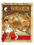 Steinlen Gastinel Ballet Reve Posters