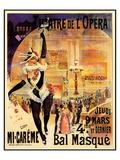 Theatre De L'Opera Bal Masque Poster