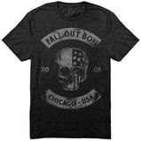 Fall Out Boy- Chicago Skull 2001 Tričko