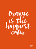 Orange Is The Happiest Color Giclee Print by Brett Wilson