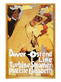 Dover-Ostend Line Ferry Ad Prints
