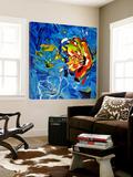 Étude Fleurs bleues Posters par Pierre David