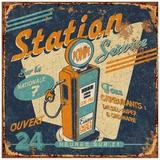 Station service Prints by Bruno Pozzo