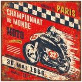 Championnat monde 1966 Poster by Bruno Pozzo