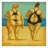 2 on the beach Posters av Steven Lamb