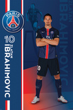 Paris Saint Germain- Zlatan Ibrahimovic Kunstdruck