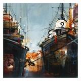2 bateaux Prints by Roland Palmaerts