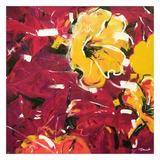 Étude Fleurs rouges Posters par Pierre David