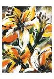 Étude Fleurs II Posters par Pierre David