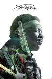 Jimi Hendrix- Double Exposure Kunstdrucke