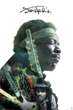 Jimi Hendrix- Double Exposure Juliste