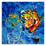 Étude Fleurs bleues Art par Pierre David