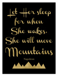 Let Her Sleep Mountains Golden Black Art by Amy Brinkman
