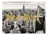 New York Skyline Golden Posters by Amy Brinkman