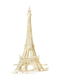 Eiffel Tower Golden White Posters by Amy Brinkman