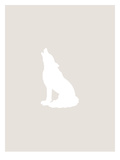 Beige White Wolf Prints by  Jetty Printables