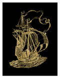 Ship 2 Golden Black Posters by Amy Brinkman