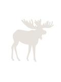 Beige Moose Print by  Jetty Printables