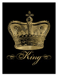 Crown King Golden Black Posters by Amy Brinkman