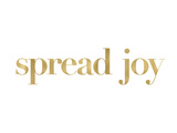 Spread Joy Golden White Art by Amy Brinkman