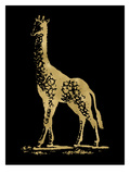 Giraffe Golden Black Prints by Amy Brinkman