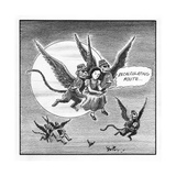 Recalculating Route... - Cartoon Premium Giclee Print by Harry Bliss