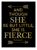 Fierce Shakespeare Arrows Golden Black Poster by Amy Brinkman