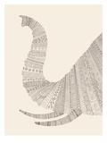 Elephant (On Beige) Plakater af Florent Bodart