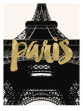Paris Eiffel Tower Golden Posters by Amy Brinkman