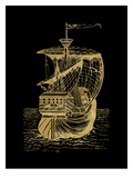 Ship 1 Golden Black Posters by Amy Brinkman