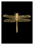 Dragonfly Golden Black Posters by Amy Brinkman