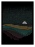 Moonrise (Color) Posters by Florent Bodart
