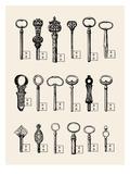 Usb Keys Giclée-tryk af Florent Bodart