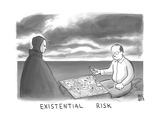 The Grim Reaper and a man play Existential Risk - New Yorker Cartoon Premium Giclee Print by Paul Noth