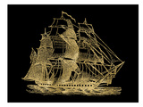Ship 3 Golden Black Prints by Amy Brinkman