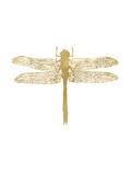 Dragonfly Golden White Póster por Amy Brinkman