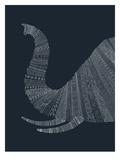 Elephant Blue Posters af Florent Bodart