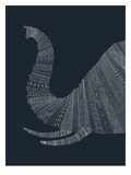 Elephant Blue Posters by Florent Bodart