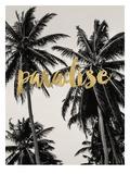 Paradise Palm Trees Golden Kunstdrucke von Amy Brinkman