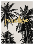 Amy Brinkman - Paradise Palm Trees Golden - Tablo