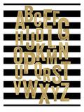 Alphabet Black White Stripe Posters by Amy Brinkman
